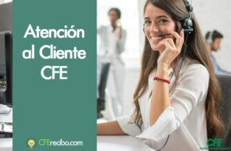 Atencion al cliente cfe México por telefono