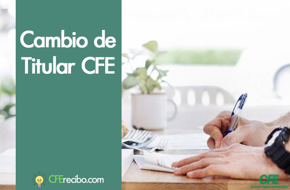 Cambio de titular CFE