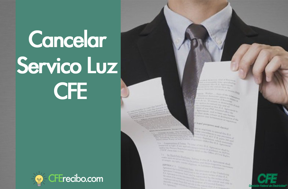 Cancelar contrato CFE mexico