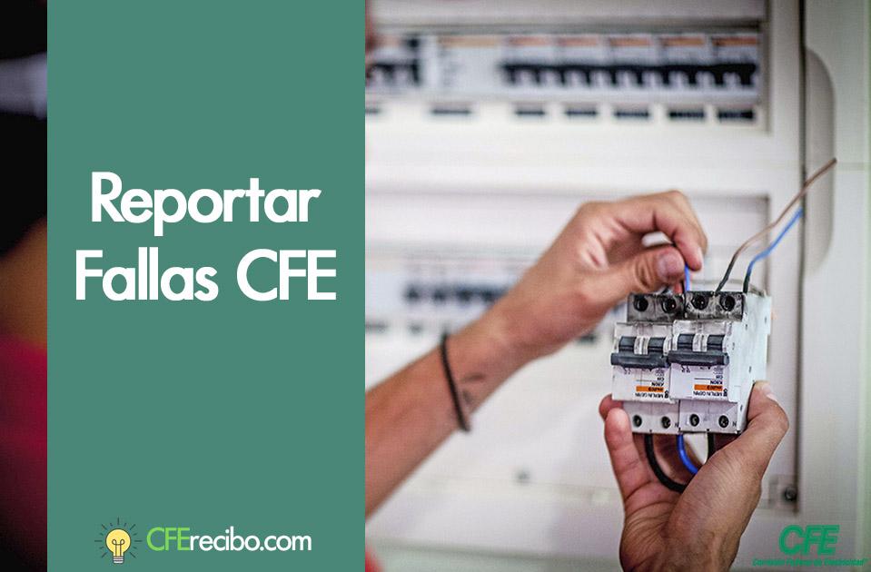 Reporta fallas de luz CFE Mexico