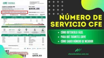 Número de Servicio CFE y cómo obtenerlo