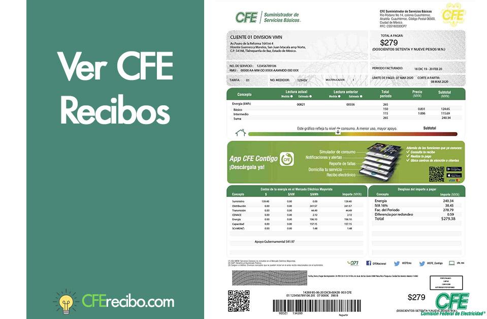 Ver CFE Recibos de luz